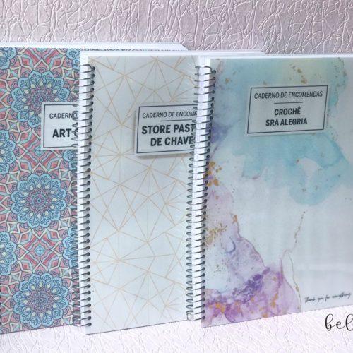Caderno encomendas personalizado
