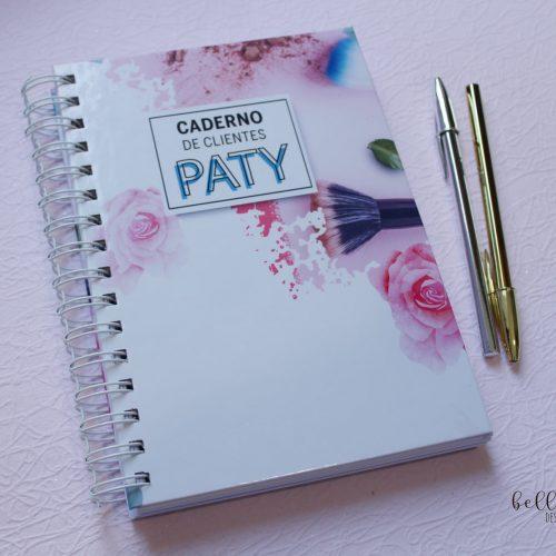 Caderno clientes personalizado
